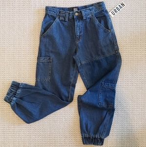 Urban Outfitters Cuffed Denim Joggers Size 26